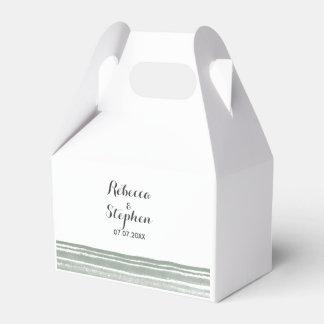 Caixa moderna do favor do casamento da aguarela