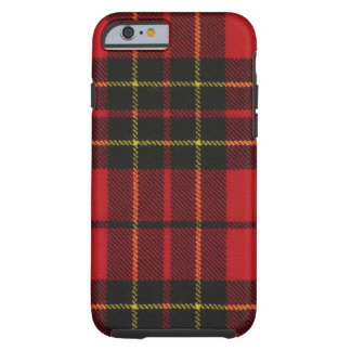 caixa moderna vermelha do Tartan de Brodie do caso Capa Tough Para iPhone 6