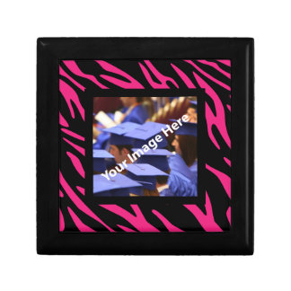 Caixa personalizada da lembrança da foto da zebra estojo para jóias