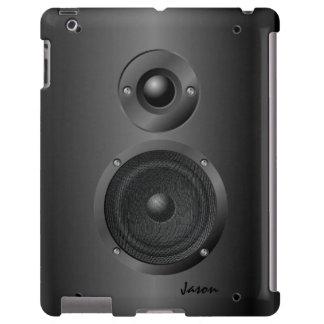 Caixa preta do iPad do auto-falante do som da Capa Para iPad