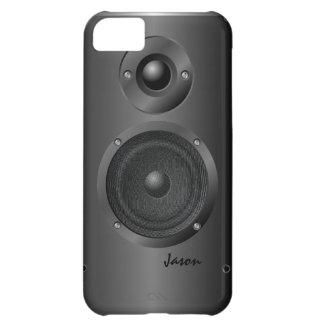 Caixa preta do iPhone 5 C do auto-falante do som Capa Para iPhone 5C