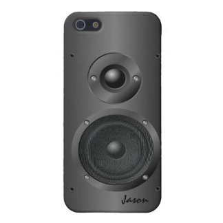 Caixa preta do iPhone 5 do auto-falante do som da iPhone 5 Capas