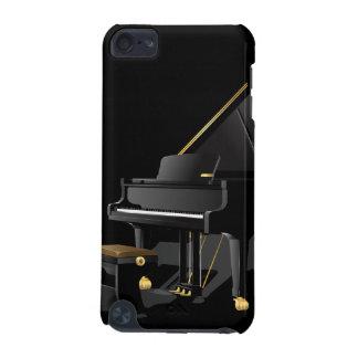 Caixa preta do ipod touch 5 do piano capa para iPod touch 5G