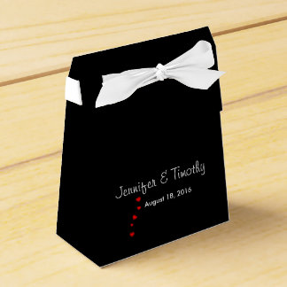 Caixa preta personalizada do favor do casamento caixinha de lembrancinhas