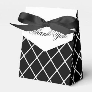 Caixa preto e branco do favor do casamento