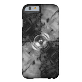 Caixa preto e branco do iphone 6 do auto-falante capa barely there para iPhone 6