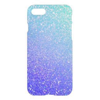 Caixa rara azul do iPhone 7 de Ombre do brilho Capa iPhone 7