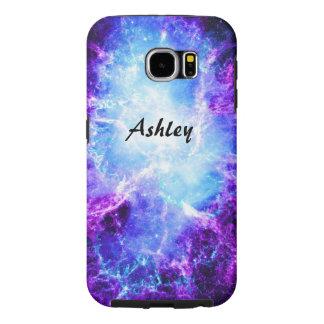 Caixa resistente da galáxia S6 da galáxia roxa Capas Samsung Galaxy S6