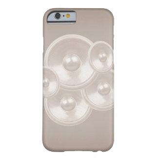 Caixa retro branca do iPhone 6 dos auto-falante da Capa Barely There Para iPhone 6