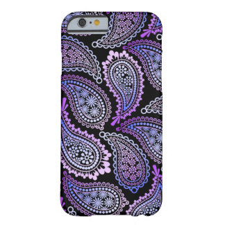 Caixa roxa do iPhone 6 de Paisley Capa Barely There Para iPhone 6