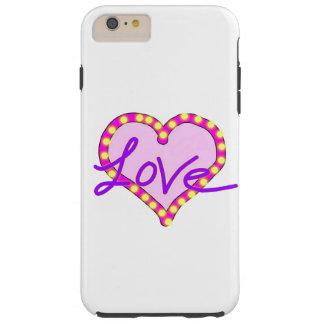 Caixa roxa do iPhone 6 do amor do coração Capa Tough Para iPhone 6 Plus