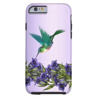 Caixa roxa do iPhone 6 do colibri das violetas Capa Tough Para iPhone 6