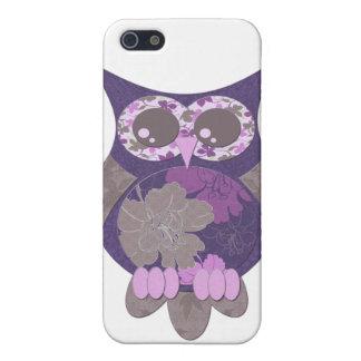 Caixa roxa do speck da coruja do hibiscus capas iPhone 5