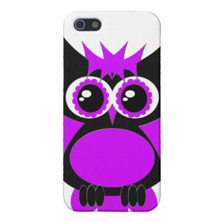 Caixa roxa do speck da coruja do punk iPhone 5 capa