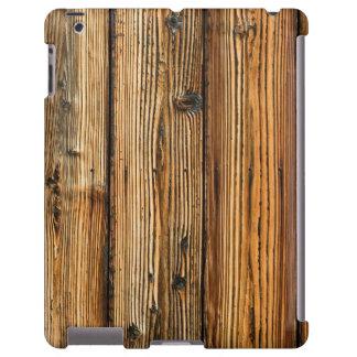 CAIXA rústica da madeira IPAD Capa Para iPad