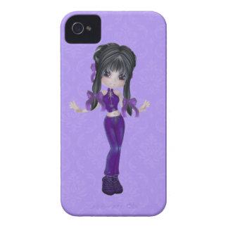 Caixa triguenha bonito de Blackberry da menina Capinhas iPhone 4