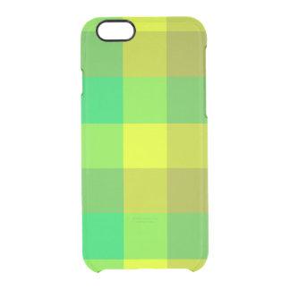 Caixa verde do defletor do iPhone 6s da xadrez Capa Para iPhone 6/6S Clear
