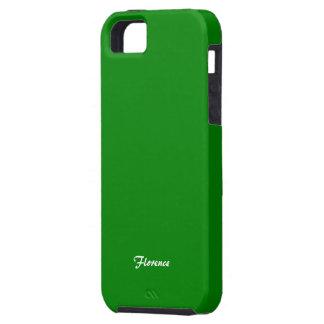 Caixa verde do iphone 5 de Florença Capa Tough Para iPhone 5