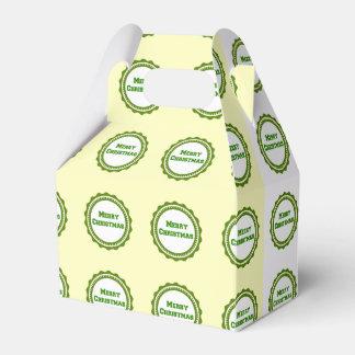 Caixa verde escuro do favor de festa natalícia do