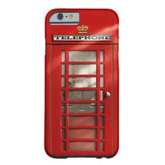 Caixa vermelha britânica clássica do costume da capa barely there para iPhone 6