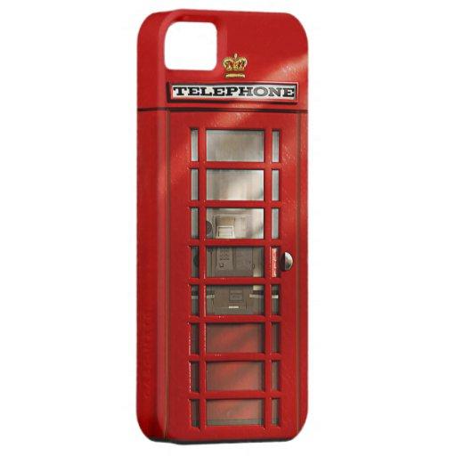 Caixa vermelha britânica clássica do iPhone 5 da c Capa iPhone 5