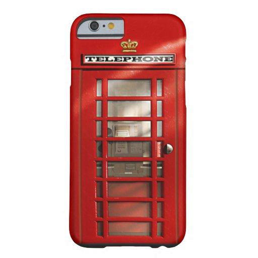 Caixa vermelha britânica clássica do iPhone 6 da Capa iPhone 6 Barely There