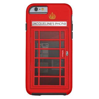 Caixa vermelha conhecida personalizada do iPhone 6 Capa Tough Para iPhone 6