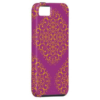 caixa vermelha do ornamento floral Iphone5 Capa Para iPhone 5