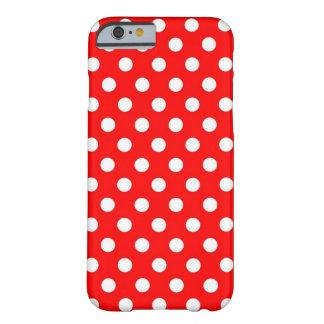 Caixa vermelha e branca retro do iPhone 6 das Capa Barely There Para iPhone 6