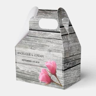 Caixas cor-de-rosa de madeira rústicas do favor do caixinha de lembrancinhas para festas