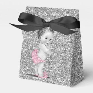 Caixas cor-de-rosa e pretas doces do favor do chá caixinha de lembrancinhas para festas