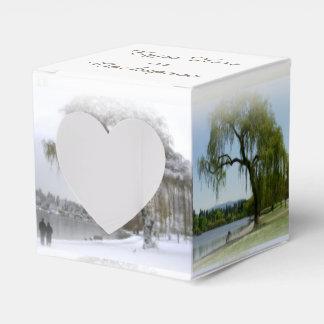 Caixas personalizadas românticas da caixa de caixinha de lembrancinhas
