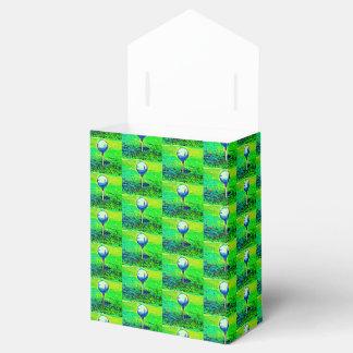 Caixas telhadas Golfing verdes do favor Caixinha De Lembrancinhas