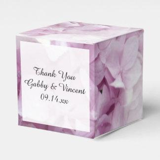 Caixinha De Lembrancinhas Casamento floral do Hydrangea cor-de-rosa macio