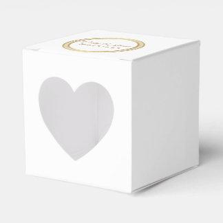 Caixinha De Lembrancinhas Círculo eterno do Caixa-Ouro do favor de partido
