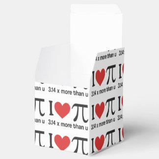 Caixinha De Lembrancinhas Coração engraçado Pi de I - 3,14 x mais do que u
