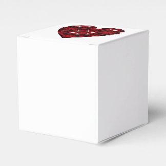 Caixinha De Lembrancinhas Coração vermelho escuro do caleidoscópio com