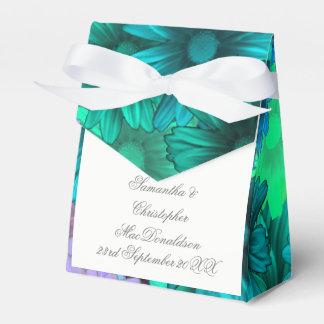 Caixinha De Lembrancinhas Flores verdes da cerceta que wedding