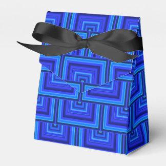 Caixinha De Lembrancinhas O quadrado das listras azuis escala o teste padrão