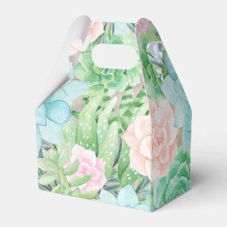 Caixinha De Lembrancinhas Os Succulents florescem a aguarela lindo de |
