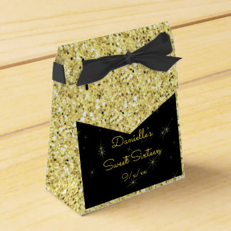 Caixinha De Lembrancinhas Ouro elegante, brilho do falso, doce dezesseis