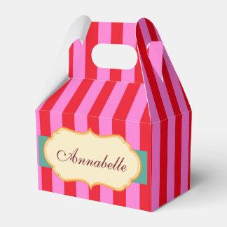 Caixinha De Lembrancinhas Personalize o teste padrão das listras dos doces