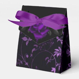 Caixinha De Lembrancinhas Rosa gótico escuro do roxo
