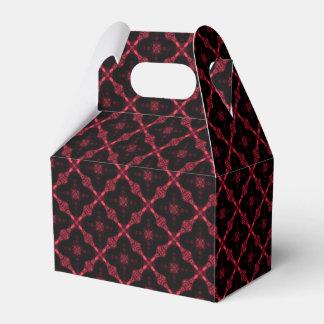 Caixinha De Lembrancinhas Teste padrão abstrato geométrico vermelho e preto
