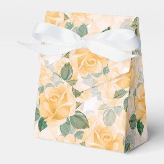Caixinha De Lembrancinhas Teste padrão floral com rosas amarelos