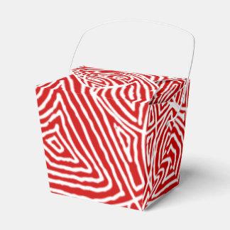 Caixinha De Lembrancinhas Teste padrão vermelho de Scribbleprints