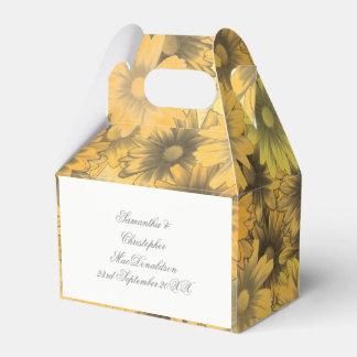 Caixinha Flores amarelos alaranjado coloridas que wedding