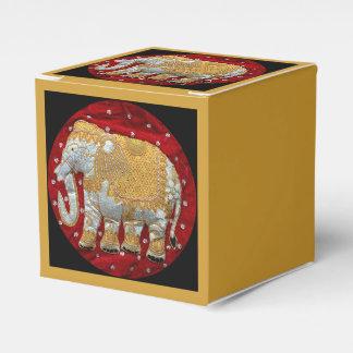 Caixinha Vermelho Embellished e ouro do elefante indiano