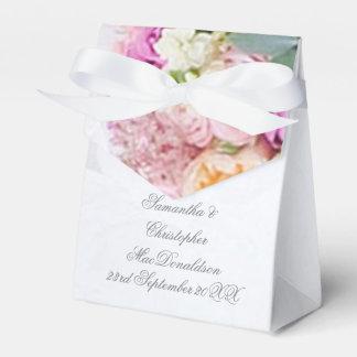 Caixinha Vestido de casamento romântico do rosa cor-de-rosa