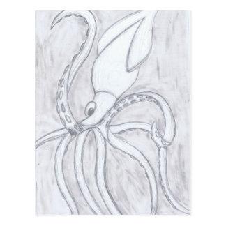 Calamar gigante cartão postal